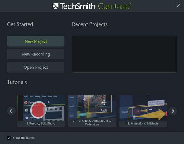 keys Camtasia Studio